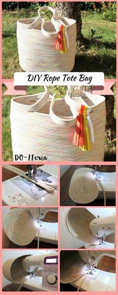 easy DIY Rope Tote Bag, einfache Sommertasche aus Seilen genäht, Selbstgemacht, selbstgenäht, DIY, DIY Tasche, Bag, Shopper