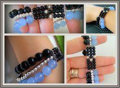 Boho / gypsy 3 in 1  Stretched bracelet boho jewelry by Arielior, $20.00