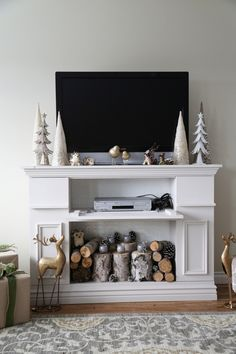 Faux Fireplace Mantel … | Pinteres…