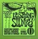Ernie Ball 2230 12 String Electric String Set, Medium (8 -40) by Ernie Ball. $9.36. Wound strings are made from nickel plated steel wire wrapped around tin plated hex shaped steel core wire. By far the most popular, produces well balanced all around good sound. Plain strings are made of specially tempered tin plated high carbon steel.