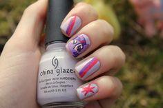 Twilight Sparkle My Little Pony Nail Art