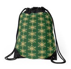 'Golden Glitter Sparkle Snowflake on Christmas Evergreen Green' Throw Pillow by podartist Custom Drawstring Bags, Drawstring Backpack, Green Throw Pillows, Golden Glitter, Designer Throw Pillows, Iphone Wallet, Pillow Design, Evergreen, Snowflakes