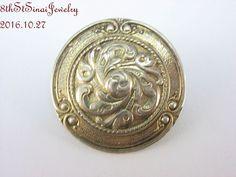 Estate Silver Repoussé Art Nouveau Button Style Pin Brooch x Art Nouveau, Sterling Jewelry, Brooch, Personalized Items, Button, Silver, Ebay, Style, Baby Newborn