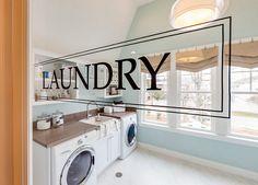 Laundry room door. Stencil Laundry Room. #LaundryRoom #StencilLaundryRoomDoor