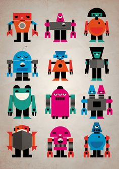 Robots Art Print | We are kind of obsessed.