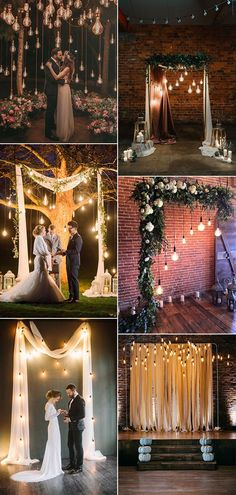 Wedding Trends wedding ceremony decoration ideas with Edison bulb lighting - For Wedding Reception Ruffled Wedding Ceremony Decorations, Wedding Themes, Wedding Bells, Wedding Events, Wedding Dresses, Wedding Ceremonies, Dream Wedding, Wedding Day, Wedding Reception