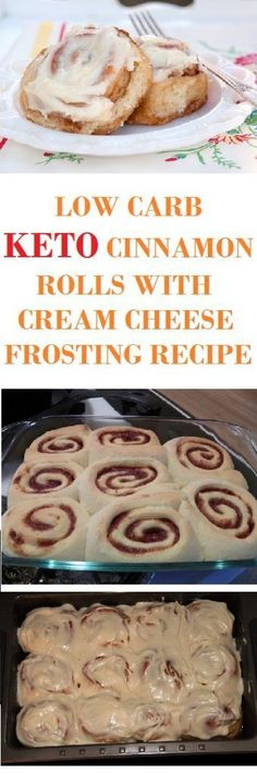 LOW CARB, KETO CINNAMON ROLLS WITH CREAM CHEESE FROSTING RECIPE