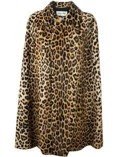Shop Saint Laurent leopard print cape coat  in Stefania Mode from the world's best independent boutiques at farfetch.com. Shop 300 boutiques at one address.