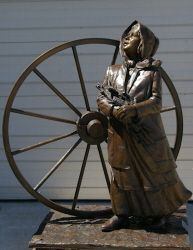 Bronze Sculpture of Mormon Handcart Pioneer Bodill Mortensen of the Martin and Willey Handcart Company. Description from pinterest.com. I searched for this on bing.com/images