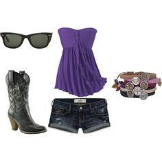 Summer time purple and black, created by kaylynadams ! Made this on Polyvore myself.