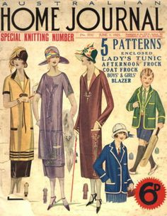 Day dresses and blazers for boys or girls, 1925 Australia, Australian Home Journal