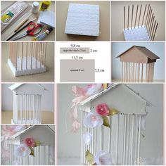 Diy step by step more ideas how to make decorative cage step by diy craft tutorials . 3d Paper Crafts, Newspaper Crafts, Diy And Crafts, Diy Popsicle Stick Crafts, Diy Step By Step, Bath And Beyond Coupon, Craft Tutorials, Decoration, Diy Tutorial