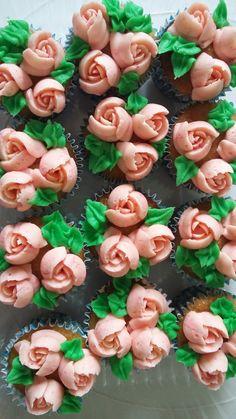 Mini cupcakes boquilla rusa