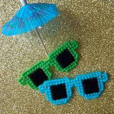 "Fun in the sun is awesome -- but protect those eyes! :) -- Sunglasses Magnets (set of 2 from ""Ready, Set, Sew!"" by Evie)"