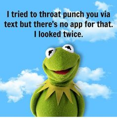 I tried to Throat Punch Meme The post 20 Throat Punch Memes That& Hit Your Haters Hard appeared first on Kermit the Frog Memes. Funny Kermit Memes, Funny Relatable Memes, Funny Jokes, Hilarious, Kermit The Frog, Funny Comments, Morning Humor, Twisted Humor, Work Humor