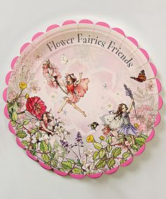 Look what I found on #zulily! Flower Fairies Large Paper Plate - Set of 24 #zulilyfinds