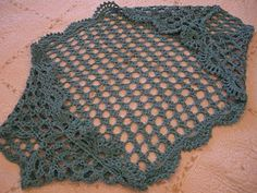 Crochet shrug- simple rectangle joined at ends with fancy edging all around. Many possibilities...★ Teresa Restegui http://www.pinterest.com/teretegui/ ★..