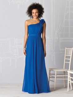 One shoulder dress for the b-maids that are more conservative