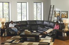 Perez Power Steel Bonded Leather Recliner Sectional Sofa Collection K