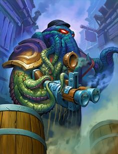 Doppelgangster (first copy) - Hearthstone Wiki Art Warcraft, World Of Warcraft, Fantasy Images, Fantasy Art, Hearthstone Heroes Of Warcraft, Dragons, Aliens, Eldritch Horror, Blizzard Hearthstone