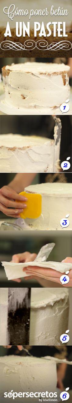 Cómo ponerle betún a un pastel.