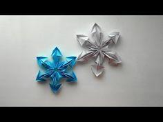 Снежинки из бумаги. Оригами снежинка на Новый год 2018 - YouTube