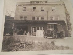 SOLD Vtg Delivery Truck Bell & CO Building Photo'