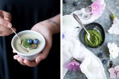 VEGAN MATCHA AND COCONUT PANNA COTTA WITH GREEN LEAF MATCHA (V+, ChF, GF, GrF, NF, P) - The Little Plantation