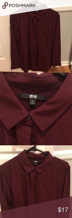 Maroon linen dress shirt Never worn maroon linen dress shirt size small Uniqlo Tops Button Down Shirts Linen Shirt Dress, Dress Shirt Sizes, Maroon Dress, Button Down Shirt, Fashion Design, Fashion Trends, Blazer, Girl Hairstyles