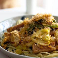 ランチョンミートと豆腐のチャンプルースパゲティ  #今日のパスタ by zhou2057