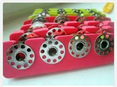 Use a toe separater as a bobbin holder! Great idea