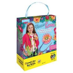 Flower Loom - Create your own wearable art and fun fashionable accessories – everything you need is included. No complicated knitting or crochet skills required. With our easy-to-follow-instructions you can complete a scarf, belt, headband and other accessories in a snap. #creativityforkids