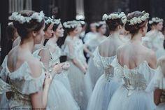 love those dresses. looks like some kind of ritual... good for a story!