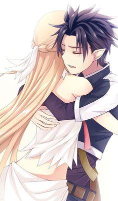 Sword Art Online, Asuna + Kirito, by Misuzu (MaChan) #Kirisuna