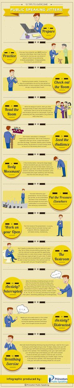 12 Strategies for Overcoming Speech Anxiety. #acuspeakingcenter #thinkbeforeyouspeak