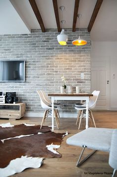 Beautiful Apartment Interior With Brick Wall
