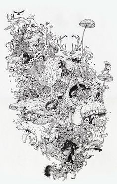 "kerby rosanes | Kerby Rosanes - Growth11"" x 16"" ink on paper"