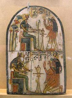 Deir el-Medina stelae in the Egyptian Museum in Turin