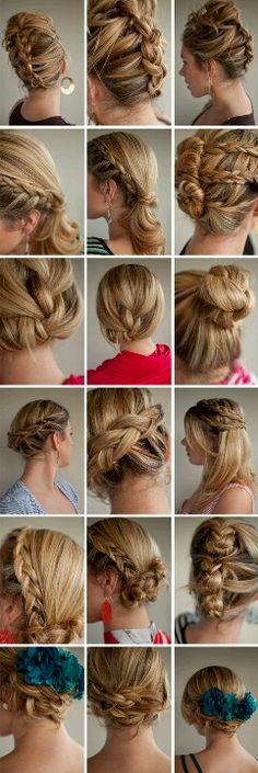 Updos buns and braids