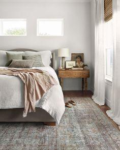 Master Bedroom, Bedroom Decor, Bedroom Linens, Airy Bedroom, Serene Bedroom, Bedroom Rugs, Chris Loves Julia, Oriental, My New Room