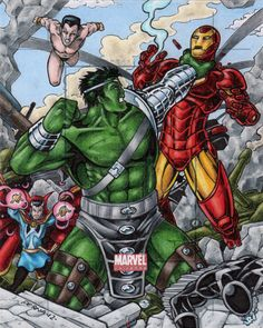 World War Hulk vs The Illuminati by tonyperna on DeviantArt