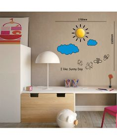 Partly Cloudy LED Wall Sticker Lamp | Daily deals for moms, babies and kids