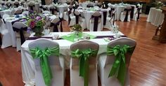 Lime green and eggplant linen by LCCR!