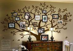 Etiqueta de la pared de árbol árbol de la etiqueta de la