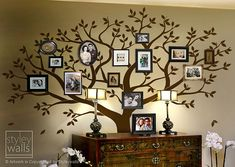 Display photos of your loved ones with the Family Tree Wall Decal. You can place framed photos all around the tree.