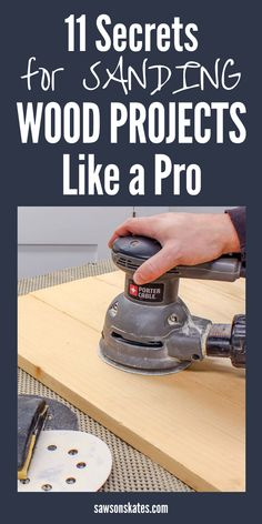 I was totally confused when sanding my DIY projects. There are so many sandpaper grits, tools for hand sanding and electric sanders. What was best to prepare wood for paint and stain? I searched for some tutorials and found this post loaded with helpful i Woodworking Bench Plans, Learn Woodworking, Wood Plans, Popular Woodworking, Woodworking Furniture, Woodworking Crafts, Diy Furniture, Woodworking Machinery, Woodworking Chisels