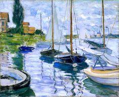 Boats at Petit-Gennevilliers, 1872 Claude Monet