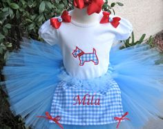 Dorothy from the Wizard of Oz Inspired Tutu Apron Bow by TutuLand, $65.00