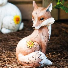 This charming garden statuette makes an adorable addition to your patio planter or pond side vignette. Fuchs Tattoo, Fox Decor, Animal Statues, Little Fox, Art Sculpture, Kawaii, Fox Art, Clay Animals, Woodland Creatures