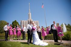 Matt Shumate Photography at the LDS Seattle Temple wedding party portrait